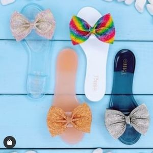 Shoes - Jelly bow slide sandals